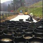 Tire-Derived Cylinder Placing